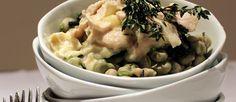 Receta de Habas con queso brie y pollo - El Aderezo - Blog de Recetas de Cocina