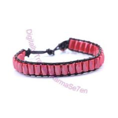 One Row Wrap Bracelet - Ravishing Red