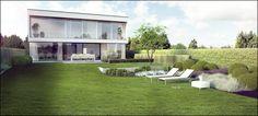 ECO Tuinarchitectengroep | 3D projecten | Hedendaagse tuin Vlaams-Brabant
