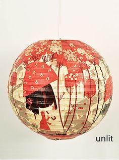 So precious! Cherry Blossom Paper Lantern.