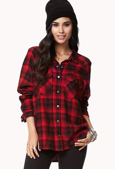 Campfire Plaid Shirt | FOREVER21 - 2000110696
