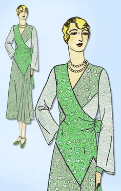 1930s Ladies Home Journal Sewing Pattern 6514 FF Plus Size Afternoon Dress 44B  | eBay