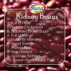 10 Health Benefits of Kidney Beans!   #GrandAdultDiaper #SuperFoods #KidneyBeans #HealthBenefits
