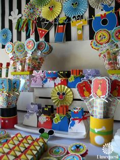 What a fun Mickey Mouse birthday party! See more party ideas at CatchMyParty.com!