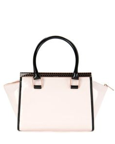Colour block tote bag - Nude Pink | Bags | Ted Baker UK www.MadamPaloozaEmporium.com www.facebook.com/MadamPalooza