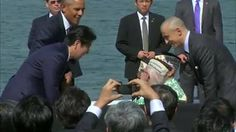 Watch: President Obama and Japanese Prime Minister Shinzo Abe make remarks at Pearl Harbor.    This is the first time a Japanese PM has visited the USS Arizona Memorial, which honors the U.S. service members and civilians killed in the attack on Pearl Harbor during World War II.