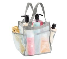 Dorm Shower Caddy Tote - Mint and Gray Dorm Essentials College Supplies