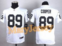 Nike Raiders Amari Cooper White Youth Stitched NFL Elite Jersey And Broncos  Derek Wolfe 95 jersey 6fb912500