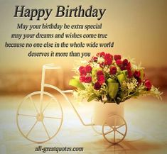 Happy Birthday Wishes - Greetings Cards | via Facebook | We Heart It