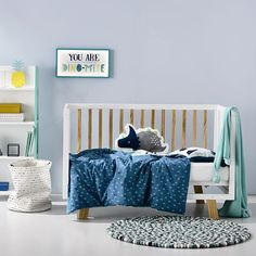 Baby Blankets, Quilt Cover Sets & Nursery Decor | Adairs Kids - Dino Land Cot Quilt Cover Set - Bedroom Quilt Covers & Coverlets - Adairs Kids Online