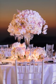Decoration & Flowers from Luxurious Lebanese wedding at Santorini Gem in ivory and rose gold by Phosart Photography & Cinematography