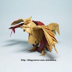 #origami #origamipro #foodchain #jangyongik #먹이사슬  Food Chain - Jang Yong ik Fold by me  뱀을 다시 칠해서 올립니다.