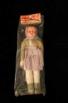 Old Sawdust Filled Polish Peasant Doll Still in package