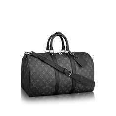 LOUIS VUITTON Official USA Website - Discover the beloved Louis Vuitton Keepall 55 Bandoulière in our new iconic black & grey Monogram Eclipse canvas. Louis Vuitton Keepall 55, Louis Vuitton Duffle Bag, Louis Vuitton Luggage, Louis Vuitton Handbags, Black Louis Vuitton, Louis Vuitton Monogram, Travel Accessories For Men, Luxury Bags, Luxury Luggage
