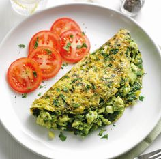 Super Green Omelette Vegetarian Recipe