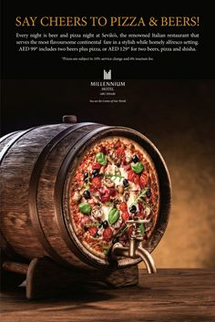 Pizzas and beers have always been a good plan so why not try our Pizza  Beer promotion at our Italian Restaurant every night
