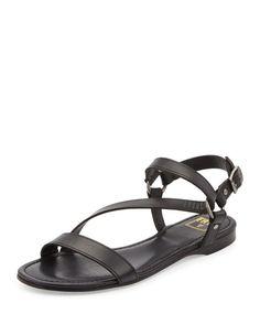 The Original Celebrity Shoes Site * Since 2005 Black Flats Shoes, Black Leather Flats, Leather Sandals Flat, Ankle Strap Flats, Strappy Sandals, Flat Sandals, Shoes Sandals, Celebrity Shoes, Shoe Sites