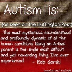 I was asked by the Huffington Post what #Autism is..   This was my response...   www.lostandtired.com
