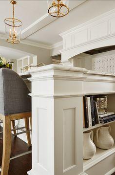 Kitchen Cabinets. Great Kitchen Cabinet Design. #Kitchen #Cabinet #Design  Paint Color: White Kicthen Paint  Color: Benjamin Moore White Dov...