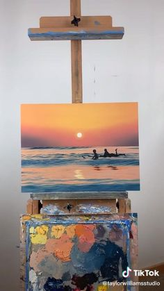 Canvas Painting Tutorials, Diy Canvas Art, Acrylic Painting Canvas, Painting Techniques, Cool Art Drawings, Watercolor Art, Art Projects, Artsy, Paintings