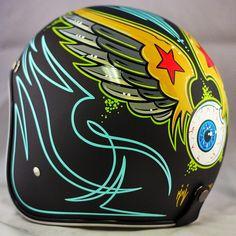 Flat Black Von Dutch Starry Eye | Crown Helmets