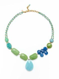 We love david aubrey's fun colored jewelry pieces for summer!