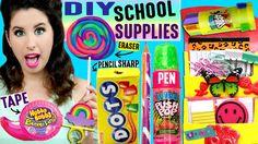 DIY Candy School Supplies | Push Pop Pen, Ring Pop Eraser, Hubba Bubba T...