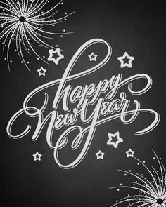 Buy 'Happy New Year' Hand Lettering (Vector) by letterstock on GraphicRiver. HAPPY NEW YEAR hand lettering – handmade calligraphy Vector hi-res JPEG included Chalkboard Lettering, Chalkboard Designs, Hand Lettering, Chalkboard Printable, Chalkboard Ideas, Chalkboard Writing, Lettering Design, New Year Wishes, New Year Greetings