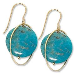 Turquoise Earrings in 14 ky. https://www.goldinart.com/shop/colored-gemstone-earrings/turquoise-earrings-in-14-ky