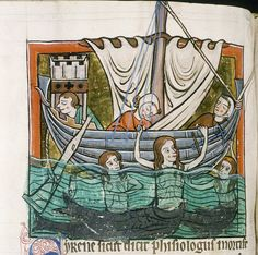 (Fish-)Sirens enchanting the sailers with their sweet songs by petrus.agricola, via Flickr.  Oxford Ms. Bodley 764 fol-74v