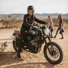 "dropmoto: "" Can't wipe the smile off a motorcucle rider, that's just sciencs. @jennylinquist enjoying her @british_customs Triumph Bonneville at @babesrideout.  @sideroist #dropmoto #triumph #bonneville """