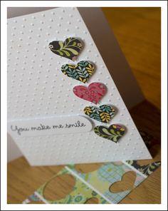 making embossed cards Stampin Up Karten, Karten Diy, Paper Cards, Diy Cards, Embossed Cards, Heart Cards, Card Sketches, Valentine Day Cards, Creative Cards