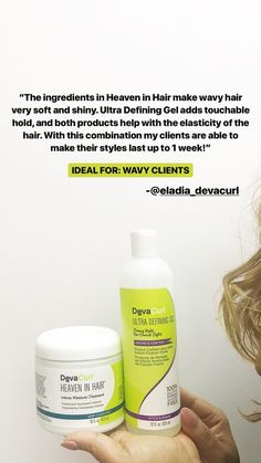 #Devachan stylist, Eladia reaches for Heaven In Hair and Ultra Defining Gel to provide touchable hold and a boost of moisture for wavy clients.