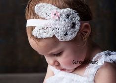 15 OFF Easter Headbands Bunny Headband Baby Bows by cutenessbuns, $6.95