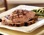 Grilled Salmon & Portabella with Vinaigrette