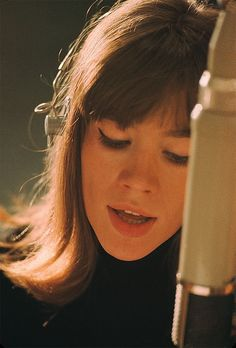 "herekitty: "" Françoise Hardy in the recording studio, 1960s. Photo by Jean-Marie Perier. """