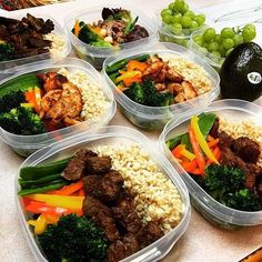 As @mysignature says if youre not meal prepping what are you doing? In his prep he has lamb chicken and boneless top sirloin for protein brown rice for carbs broccoli bell peppers & snow peas for veggies and avocado for a healthy fat! - Its time to start living a healthier lifestyle and meal prepping is a HUGE factor in success! Download @mealplanmagic now to find out how! - ALL-IN-ONE TOOL & GUIDES - Build Custom Plans & Set Nutrition Goals BMR BMI & Max Rate Calculator Get Your Macros b...