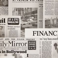 Newspapers #wallpaper #decor #decoration