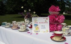 10 Vintage Tea Cups and Saucers for Tea Party, Wedding, Baby Shower, Bridal Shower, Favors, Teacups and Saucers