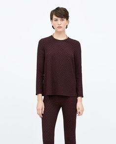 JACQUARD BABY DOLL TOP-Tops-WOMAN-SALE | ZARA United States