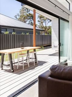 """In a bid to find additional living space and more generosity, the terrace and garden are becoming more and more important and are being converted into the second living room. Here, not only the spatial boundaries are becoming blurred. In the wake of the """"Indoor   Outdoor"""" trend, today weatherproof outdoor furniture not only looks like it comes from the living room - it is also used there too. Living Spaces, Living Room, Indoor Outdoor, Outdoor Decor, New Opportunities, Smart Home, Terrace, Two By Two, Deck"""
