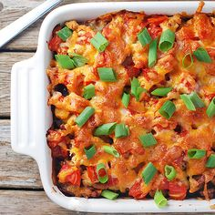 Southwest Black Bean Casserole