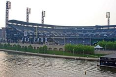 Photo Tour of PNC Park - Home of the Pittsburgh Pirates: View of PNC Park from the Roberto Clemente Bridge