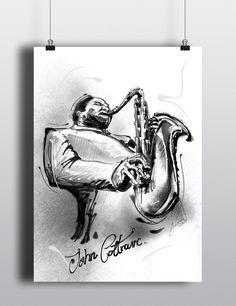 Dexter Gordon and John Coltrane Sketches on Behance