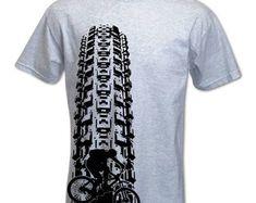 Men's Mountain Bike T Shirt Tyre Track Shirts by BangTidyClothing Mountain Bike Jerseys, Mountain Bike Clothing, Mens Mountain Bike, Mountain Biking, Cycling T Shirts, Bike Shirts, Cycling Art, 3d Shirts, Cycling Jerseys