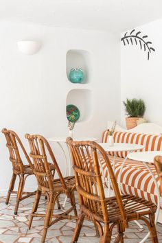 Simple Paint Tricks for a Dose of French Riviera at Home | Architectural Digest Wicker Furniture, Outdoor Furniture Sets, Outdoor Decor, Floating Headboard, 29 Rooms, Earthy Home Decor, Paint Companies, French Riviera, Home