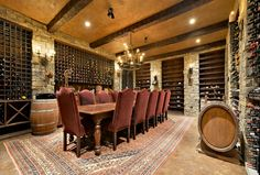 Wine cellar - Basements that you will never ever want to leave. - The Enchanted Home Wine Cellar Basement, Garage Interior, Interior Ideas, Interior Design, Ranches For Sale, Enchanted Home, Lounge, 404 Page, Room Planning