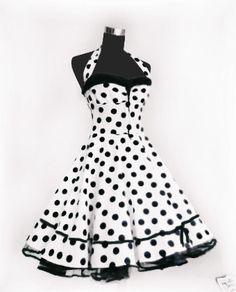 Petticoat Kleid rockabilly 50er Jahre Mode von Rockabillymode 50er Jahre Petticoatkleider Brautkleider auf DaWanda.com