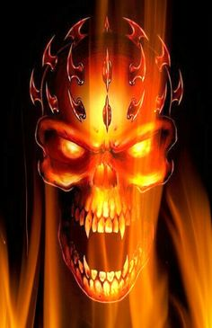 Vampires of the flame: The King Skull Artwork, Cool Artwork, Fire And Ice Wallpaper, Cool Pictures For Wallpaper, Custom Motorcycle Paint Jobs, Celtic Dragon Tattoos, Vampire Skull, Badass Skulls, Skull Pictures
