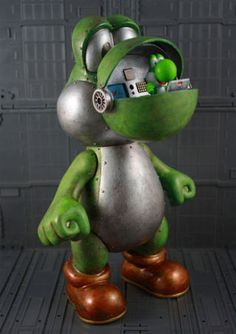 From the man who brought you the Yoshi mecha and the Mario mecha comes the, wait for it, Luigi mecha.